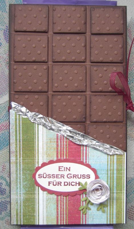 Schokoladenkarte